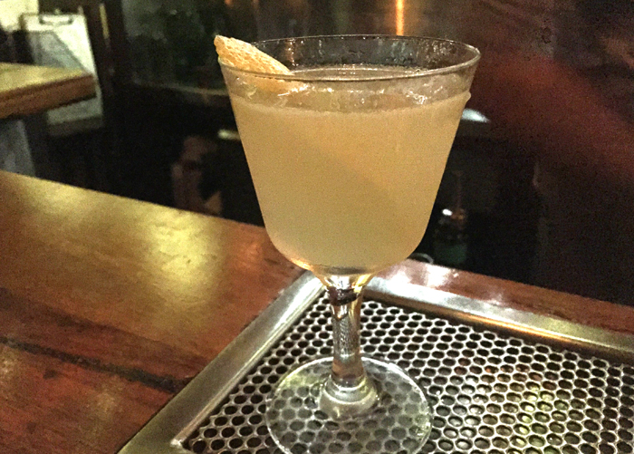 Dos Hermanos, a Tequila and Mezcal based cocktail that has a complex smokiness taste