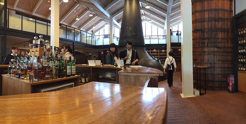 You can drink different drams of whisky from the tasting room that is not limited to just Suntory's bottles copy