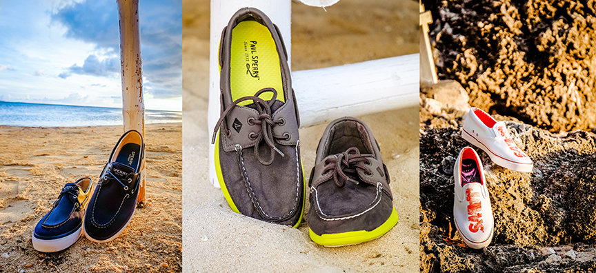 e83c39c21d Gio Levy Sperry Bahama 2-Eye Ballistic in Navy  Paul Sperry Sojourn Micro  Fiber in Grey