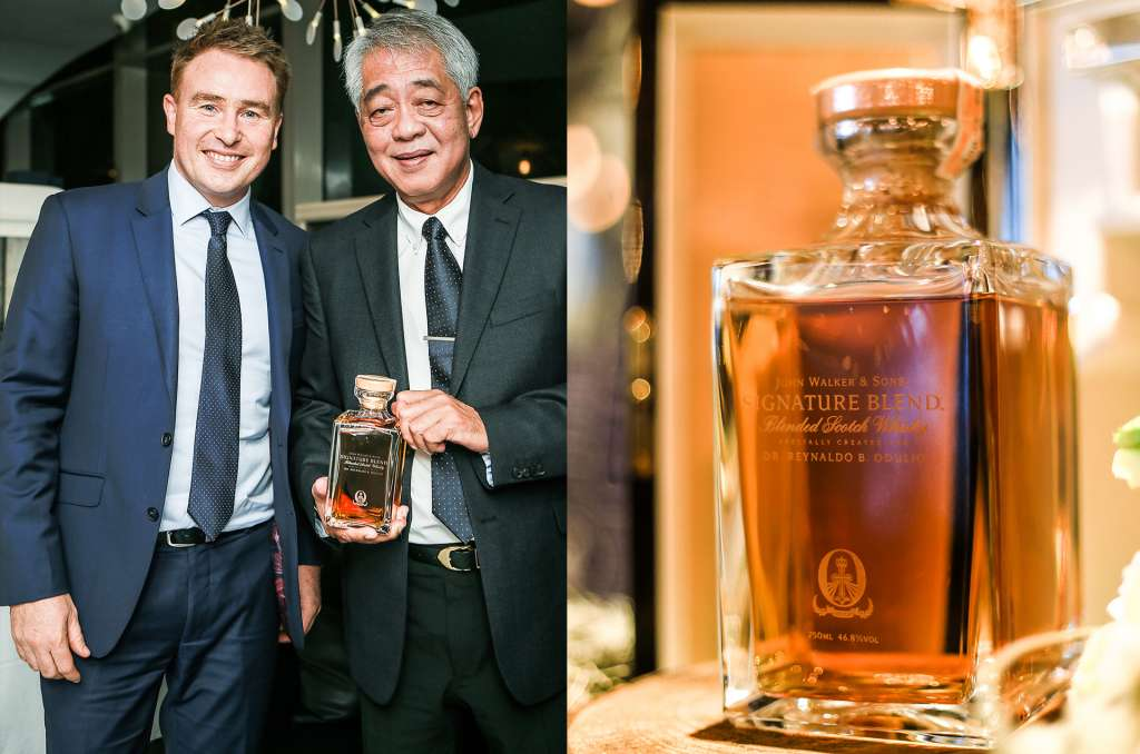 Diageo Philippines General Manager Jon Good and Dr. Reynaldo Odulio; The Odulio Sinature Blend decanter (2)