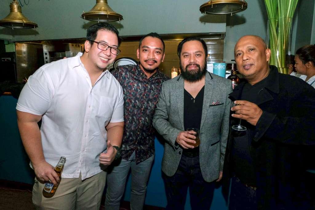 Distelleria Limtuaco's Aaron Aw, Larry Guevarra, Dix Perez, and Sante Perreras