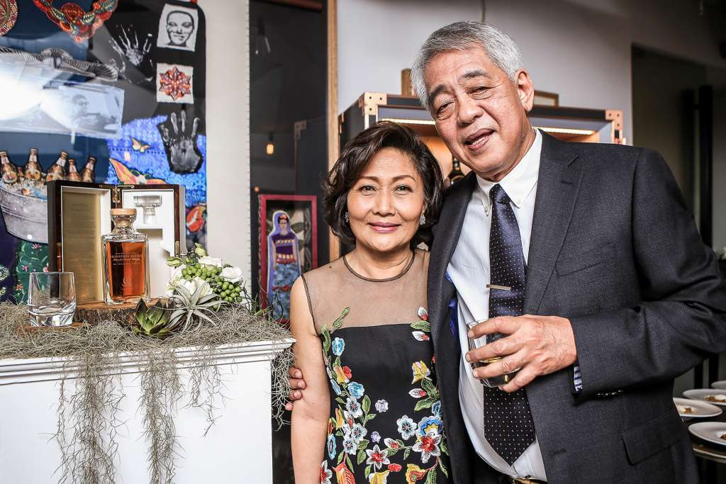 Dr. Reynaldo Odulio and Mrs. Tessie Odulio after the unveiling of the Odulio Signature Blend