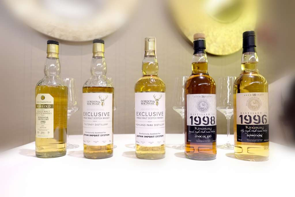 Whisky bottles from Crowns 3 collection