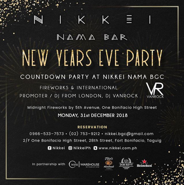 Where To Celebrate New Year S Eve 2019 In The City Drinkmanila